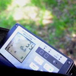 показания прибора - результаты измерения радиоактивности