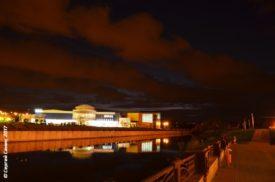 вечерний Белгород, облака над спорткомплексом Светланы Хоркиной