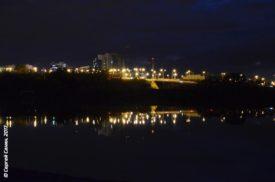 вечерний Белгород, вид на улицу Щорса от Левобережной