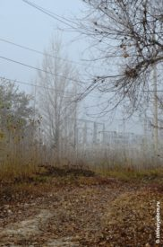 Электроподстанция в тумане