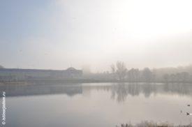 Густой туман у ДС им. Хоркиной