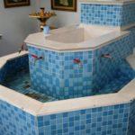 Краны для набора воды из святого источника