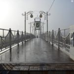 Пешеходный мост. Туман. НиуБелГУ