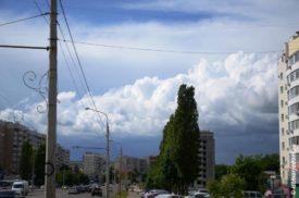 Тучи над Белгородом вид с улицы Губкина