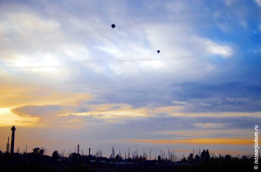 воздушные шары над Белгородом вечер