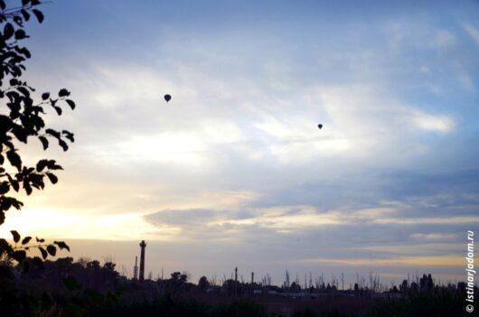 воздушные шары над Белгородом на закате