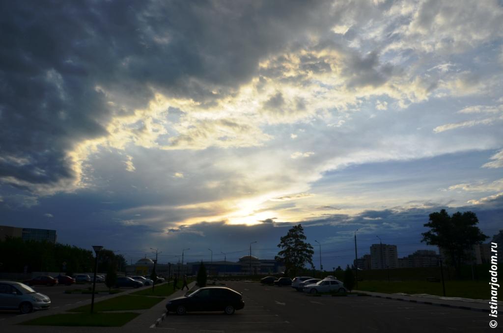 Закат, вид на объездную Щорса - Кашарский проезд